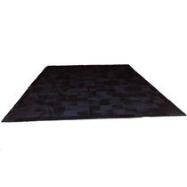 Tapete De Couro Preto 3,0x2,0 Placas De 15x15cm