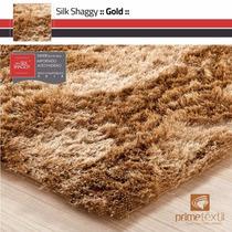 Tapete Shaggy Seda : Castor Dourado, Sob Medida : 0,50x1,00m