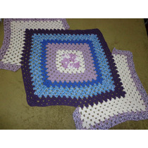 Tapete De Crochê Em Barbante Lilás,azul,roxo,cru 1,08m Comp