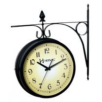 Relógio Decorativo Herweg 2 Faces Estação Ferroviária 6358