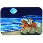 Corgi Passeio Da Praia No Cavalo Cozinha Ou Banho Mat 20x30