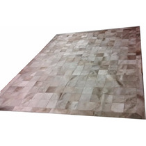 Tapete De Couro Cinza Natural 2,20m X 2,80 Placas De 15x15cm