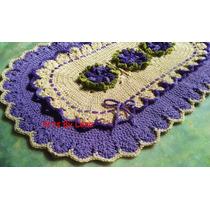Artsbylena! Tapete Crochê Flores Lilás - Pode Retirar