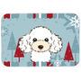 Winter Holiday Branco Poodle Cozinha Ou Banho Mat 24x36 Bb17