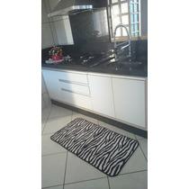 Tapete Cozinha Em Microfibra Ant-derrapante Zebra 115x60cm