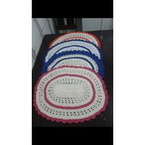 Tapetes De Crochê Coloridos Em Barbante 64cmx47cm