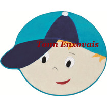 Tapete Infantil Menino Azul 84x65cm Pelúcia Antialérgica