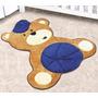 Tapete Em Pelúcia Formato Baby Urso Marinho Baby 86cm X 78cm
