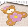 Tapete Em Pelúcia Formato Baby Ursa Baby 86cm X 78cm