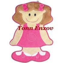 Tapete Infantil Menina Pink Pelúcia Antialérgico 0,77mx0,57m