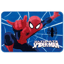 Tapete Infantil Spider Man Teia 80x120cm Azul. Frete Grátis