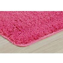 Tapete Pink Quarto Sala Shaggy 20mm 1,00m X 1,50m Rosa