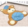 Tapete Em Pelúcia Formato Baby Urso Baby 86cm X 78cm