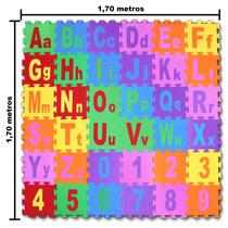 Tapete Em Eva Colorido - Ideal Para Sala E Quarto 1,70x1,70m