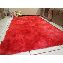 Tapete Sala Quarto 2,00 X 2,40 Peludo Vermelho Mesclado L