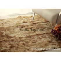 Tapete 2,00x2,40 Mesclado Peludo Shaggy Luxo Pelo Alto 40mm