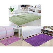 3 Tapetes De Sala Oasis 1,00 X 1,50 - Cor Verde Rosa E Lilás