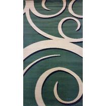 Tapete Para Sala Estilo Persa 200 X 150mts Espiral Verde