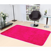 Tapete Pink Em Pelúcia Para Sala Quarto Liso 2,0m X 1,40m