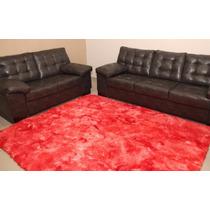 Tapete Peludo Sala Quarto Vermelho Mesclado 1,00x1,20m