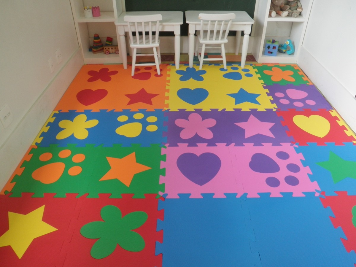 tatame eva,pisos,bebês, escola,tapete,quarto, 50cmx50cmx10mm ~ Tapete Eva Kit Quarto