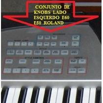Kit De Knobs Lado Esquerdo Teclado E60 / E50 Roland Original
