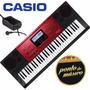 Teclado Casio Digital Ctk6250 61 Teclas Usb C/ Fonte L O J A
