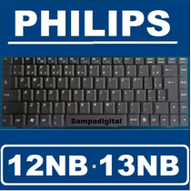 Teclado Philips 12nb 13nb V022409dk1 71-874239-00 V022409bk1