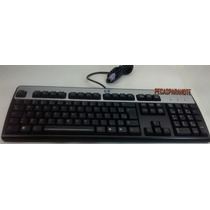 Teclado Hp Preto Prata Model Kb-0316: Para Pc Ps2 Abnt2 Com