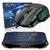 Kit Gamer Multilaser Teclado Iluminado + Mouse + Mouse Pad