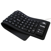 Teclado Flex Flexível Silicone Usb P/ Notebook Pc Preto