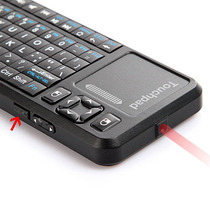 Mini Teclado Wireless Touchpad Ponteira Laser Rf 2.4ghz Usb