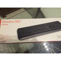 Teclado Wireless 800 Desktop Com Mouse - Caixa Fechada