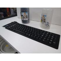 Teclado Flexível De Silicone Usb Dobrável - Notebook Pc...