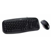 Kit Teclado Multimidia E Mouse Genius 800dpi Km-200 Usb