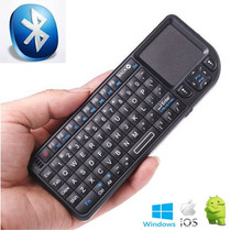 Mini Teclado Bluetooth Com Mouse Para Computador Celular Out