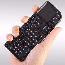 Mini Teclado Bluetooth Touch Pad E Luz P/ Celular Pc Ipad Tv