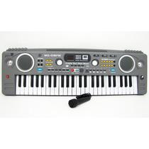 Teclado Piano Musical Infantil Sons Eletronicos Radio Mq 018