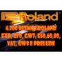 4.200 Ritmos Roland Exr, G70, Gw7, E50,60,80, Va7, Gw8 E Pre