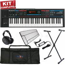 Kit Teclado Sintetizador Roland Juno Di Fonte Suporte Capa