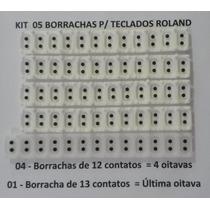 Jogo Completo C/ 05 Borrachas P/ Teclado Roland Modelo E56
