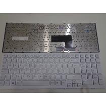 Teclado Notebook Sony Vaio Vpc-ee V116646a Branco Com Capa
