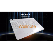 Teclado Original Sony Vaio Svf152c29x Branco Pérola C/base