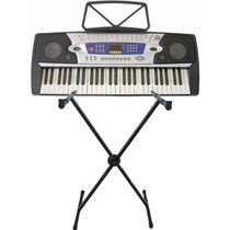 Teclado Musical Csr 54 Teclas + Microfone + Fonte + Suporte