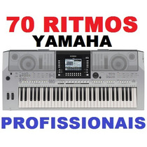 70 Ritmos Yamaha Profissionais 2014 Para Teclados Linha Psr,