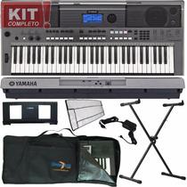 Kit Teclado Arranjador 61 Teclas Psr E443 Yamaha Com Fonte +