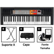 Teclado Yamaha Psr F50 Kit (suporte,capa E Fonte)