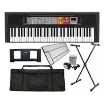 Kit Teclado Arranjador Musical Psr-f50 Yamaha C/ Fonte + Sup