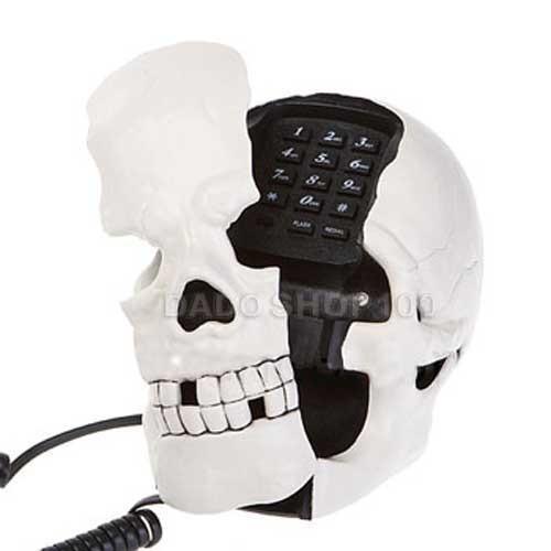 Telefone Com Fio Formato Caveira Acende Os Olhos