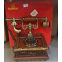 Telefone Modelo Antigo Retro Vintage Digital Em Madeira Imp